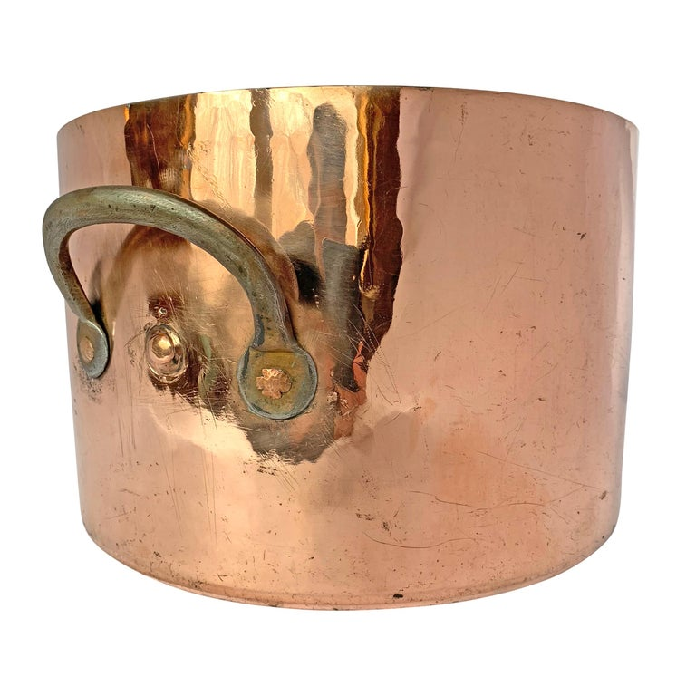 18th Century English Hand-Hammered Copper Stock Pot For Sale 2