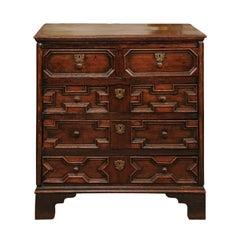 18th Century English Jacobean Style Oak Chest
