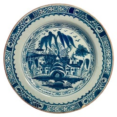 English Lambeth Delft Plate by Abigail Griffith-18th Century