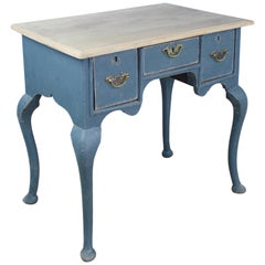18th Century English Lowboy, Newly Painted with Bleached Top