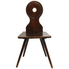 18th Century English Mahogany Hall Chair