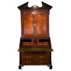 18th Century English Mahogany Secretary