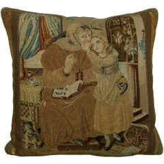 18th Century English Needlework Pillow 952p