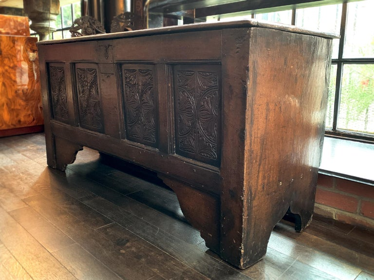18th Century English Oak Blanket Chest For Sale 9