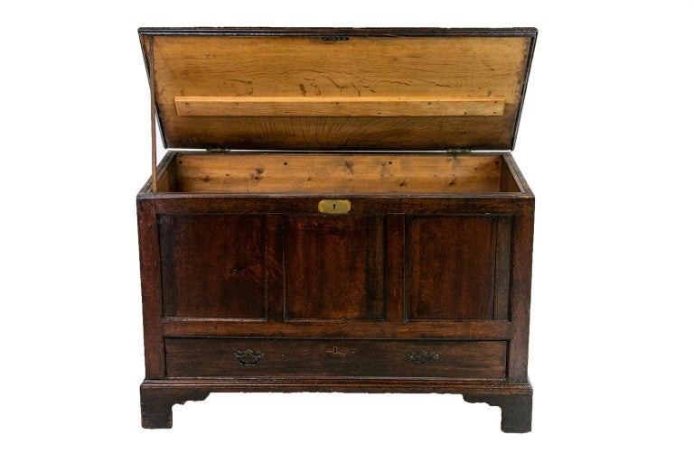 18th Century English Oak Blanket Chest For Sale 1