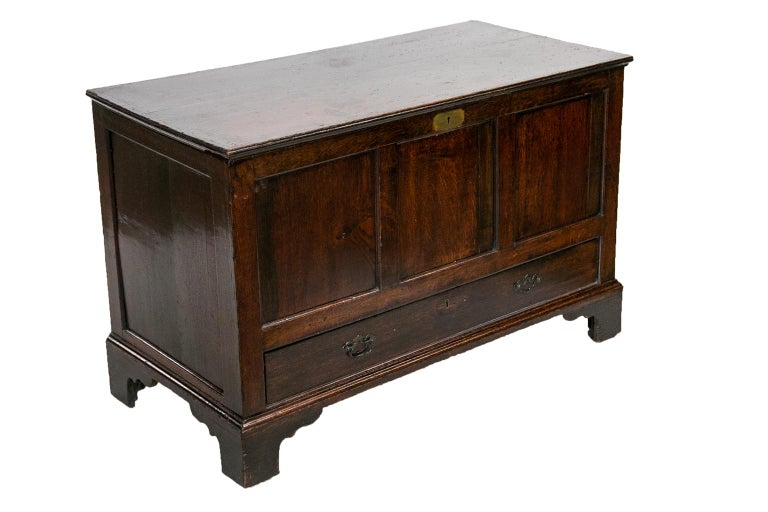 18th Century English Oak Blanket Chest For Sale 2