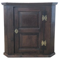 18th Century English Oak Corner Cabinet