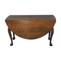 18th Century Oak Drop leaf Dining Table