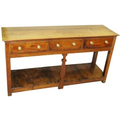 18th Century English Oak Potboard Dresser Base