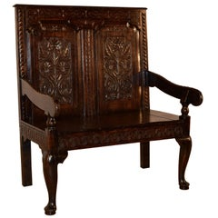 18th Century English Oak Settle