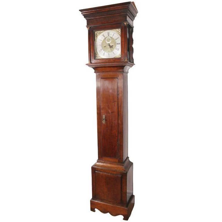 English Oak Tallcase Clock