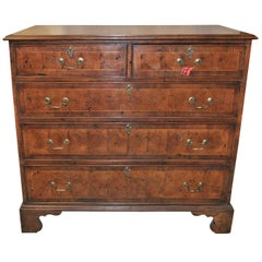 18th Century English Oyster Walnut Chest of Drawers