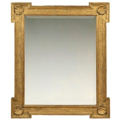 18th Century English Palladian Frame, with Outset Corners and Period Plate