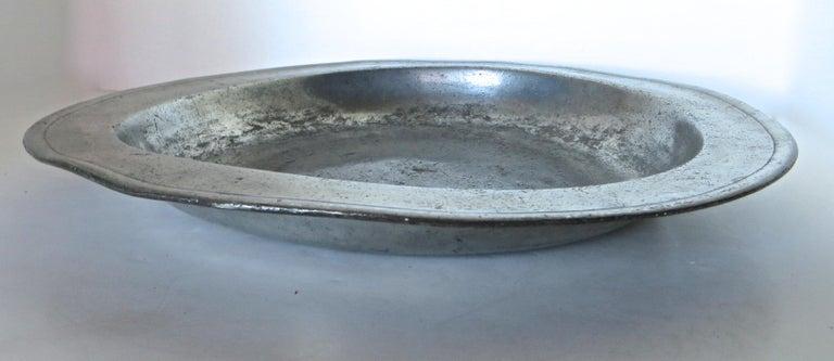 Georgian 18th Century English Pewter Sadware Dish For Sale