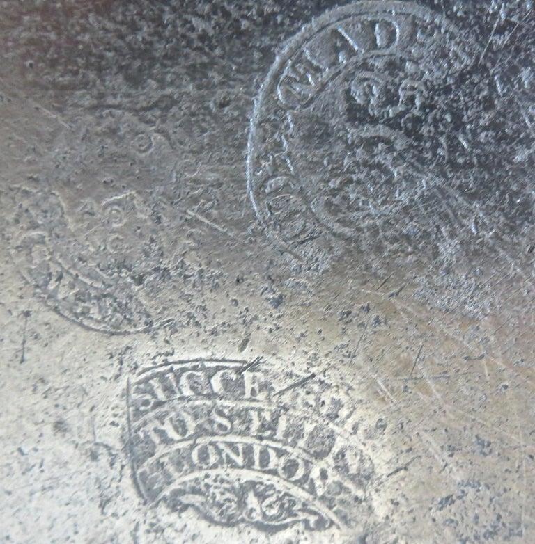 Cast 18th Century English Pewter Sadware Dish For Sale