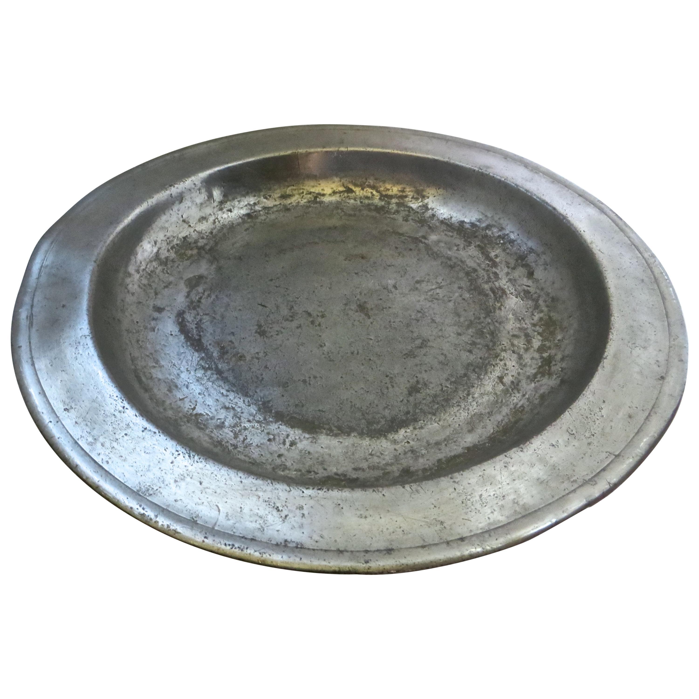 18th Century English Pewter Sadware Dish