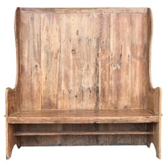 18th Century English Pine Settle