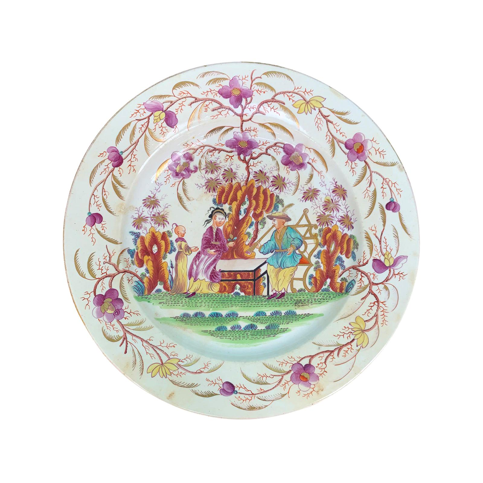 18th Century English Porcelain Plate, Possibly New Hall