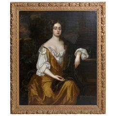 18th Century English Portrait of Mrs. Overbury Circle of Sir Godfrey Kneller