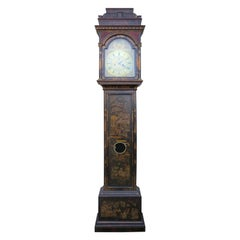18th Century English Queen Anne Japanned Tall Case Clock