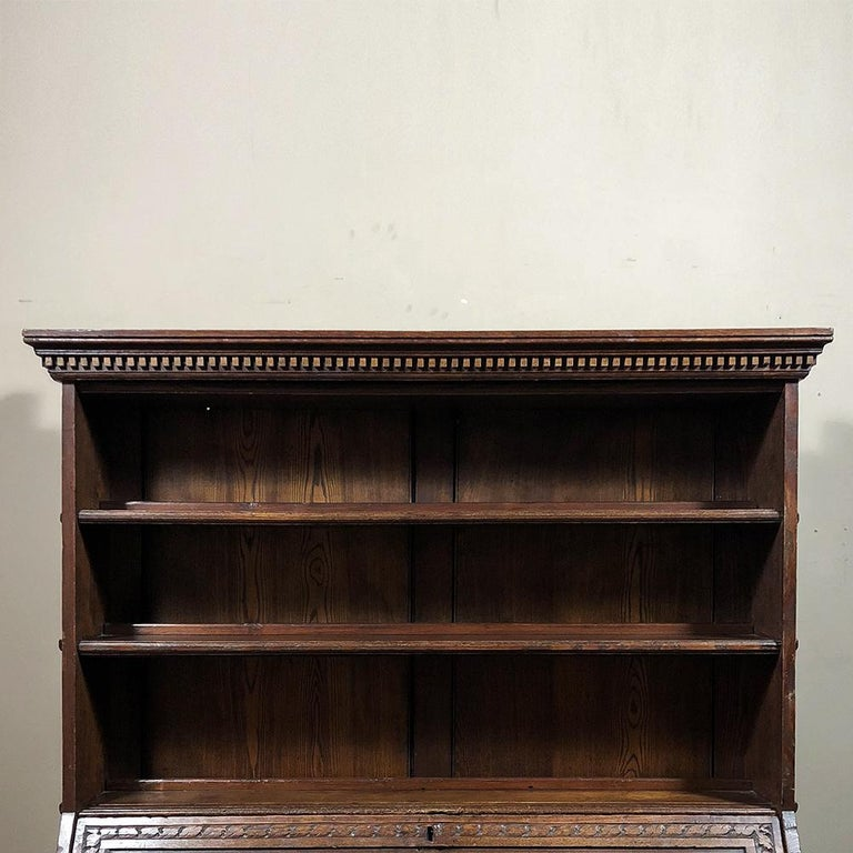 18th Century English Renaissance Secretary Bookcase For Sale 3