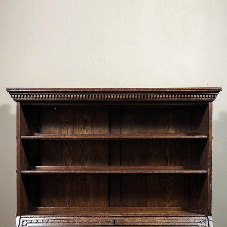 18th Century English Renaissance Secretary Bookcase For Sale 7