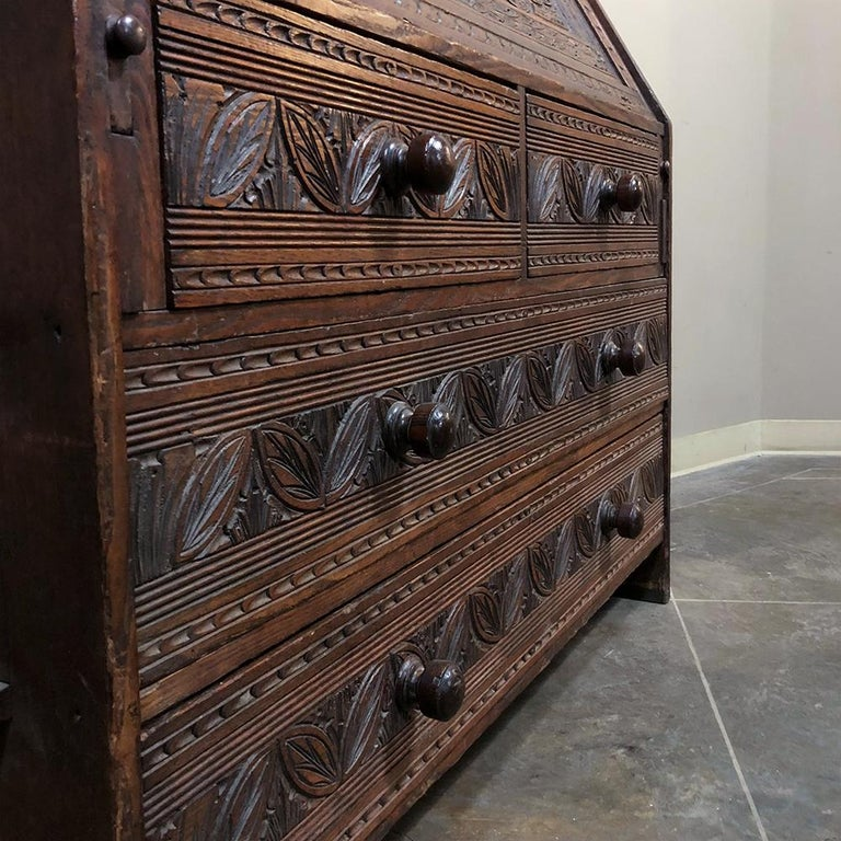 18th Century English Renaissance Secretary Bookcase For Sale 9