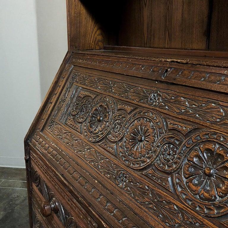 18th Century English Renaissance Secretary Bookcase For Sale 3