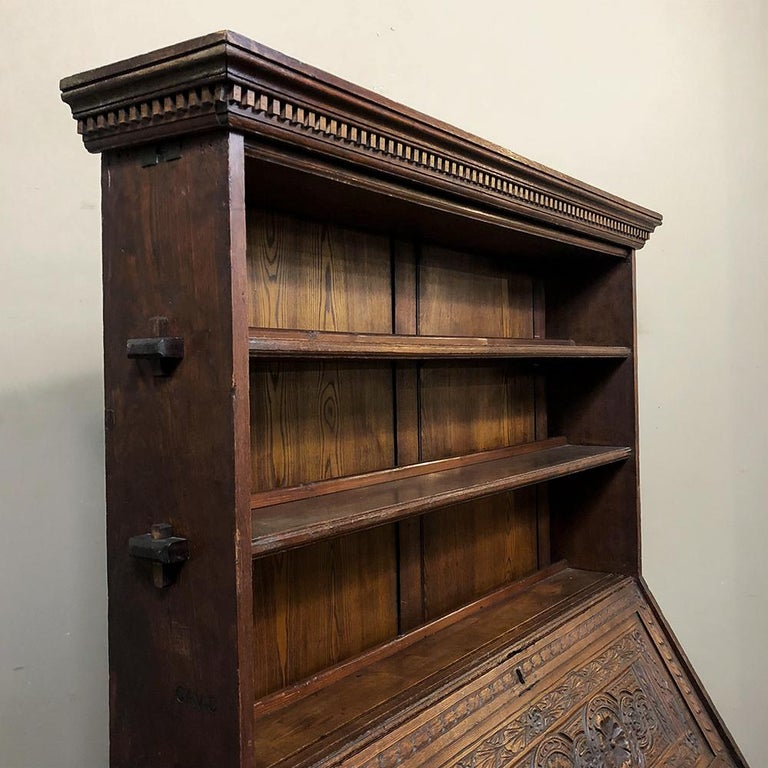18th Century English Renaissance Secretary Bookcase For Sale 1