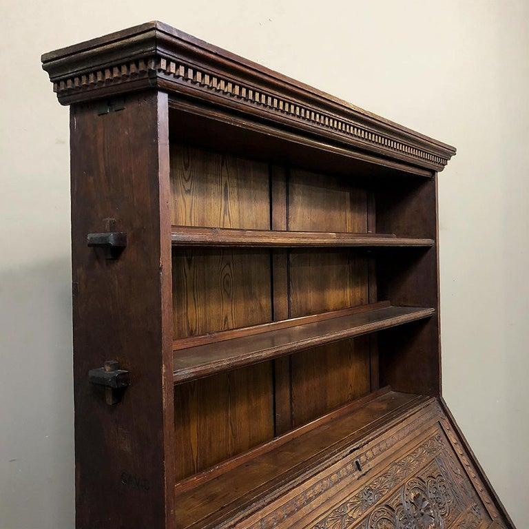 18th Century English Renaissance Secretary Bookcase For Sale 5