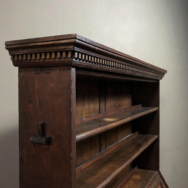 18th Century English Renaissance Secretary Bookcase For Sale 2