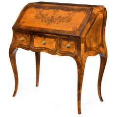18th Century English Satinwood Bureau