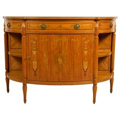 18th Century English Demilune Cabinet