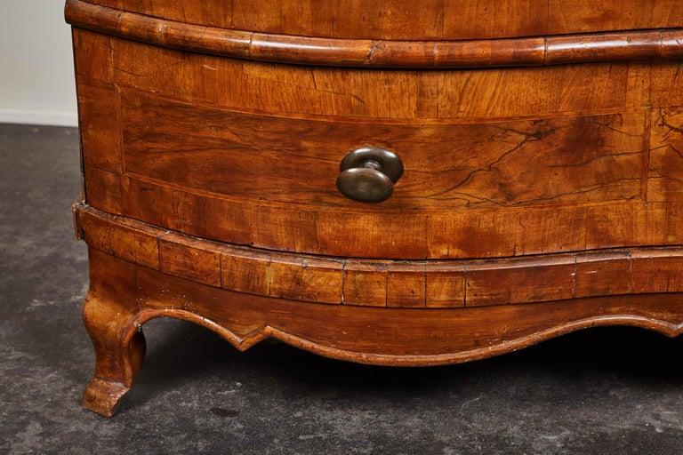 18 Jahrhundert Englische Serpentine Rokoko Kommode Mit 4 Schubladen