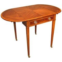 18th Century English Sheraton Mahogany Pembroke Table
