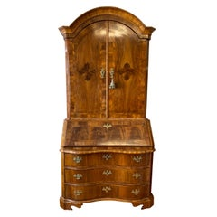 18th Century English Walnut and Secretary with Drop Front Desk