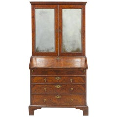 18th Century English Walnut Bureau Cabinet