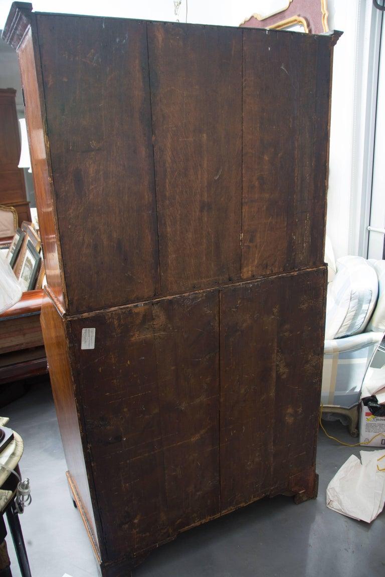 18th Century English Walnut Cottage Secretary For Sale 4