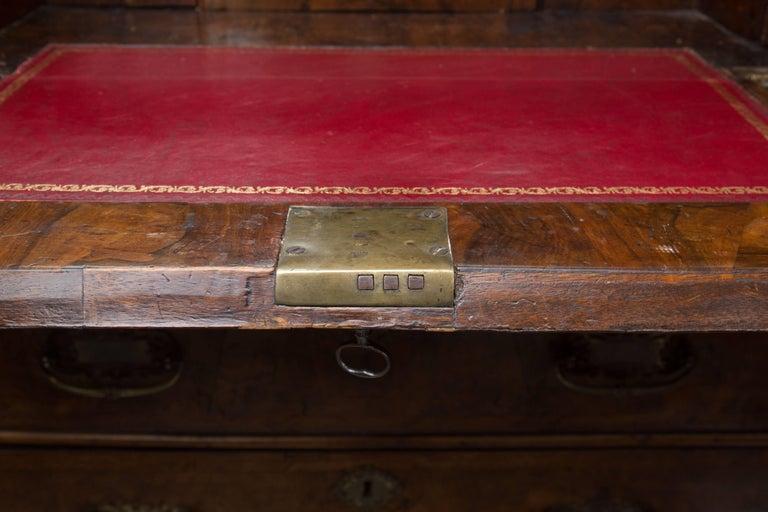 George I 18th Century English Walnut Cottage Secretary For Sale