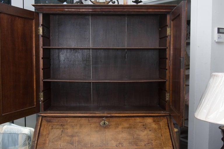 Wood 18th Century English Walnut Cottage Secretary For Sale