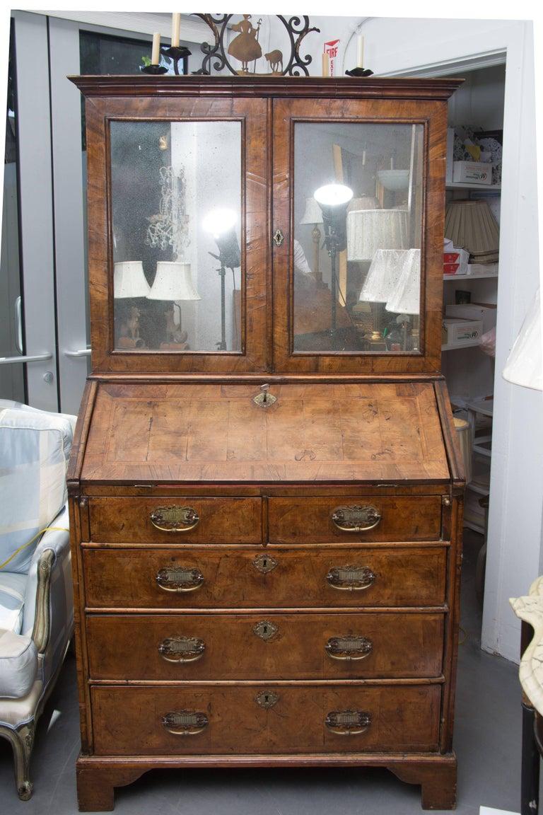 18th Century English Walnut Cottage Secretary For Sale 1