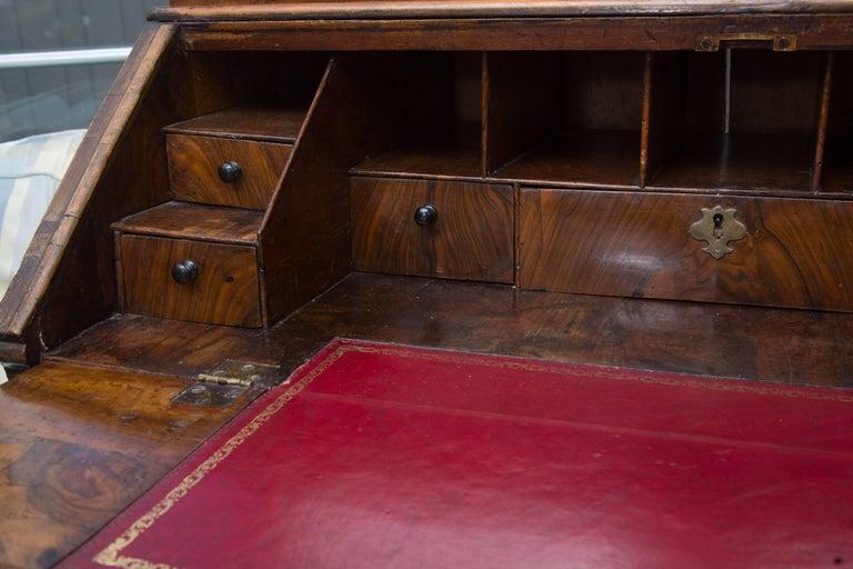 18th Century English Walnut Cottage Secretary For Sale 2