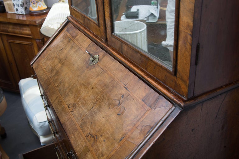 18th Century English Walnut Cottage Secretary For Sale 3