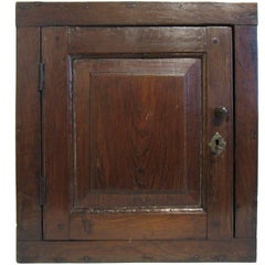 18th Century English Walnut Diminutive Wall Cabinet with Great Patina