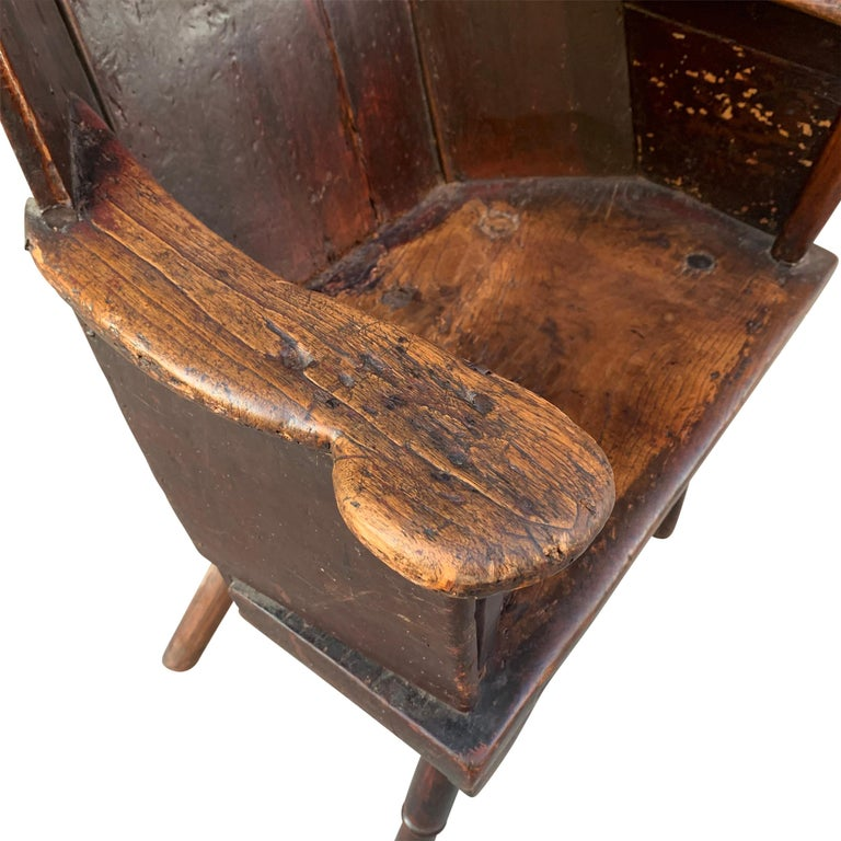 18th Century English Wingback Chair For Sale 3
