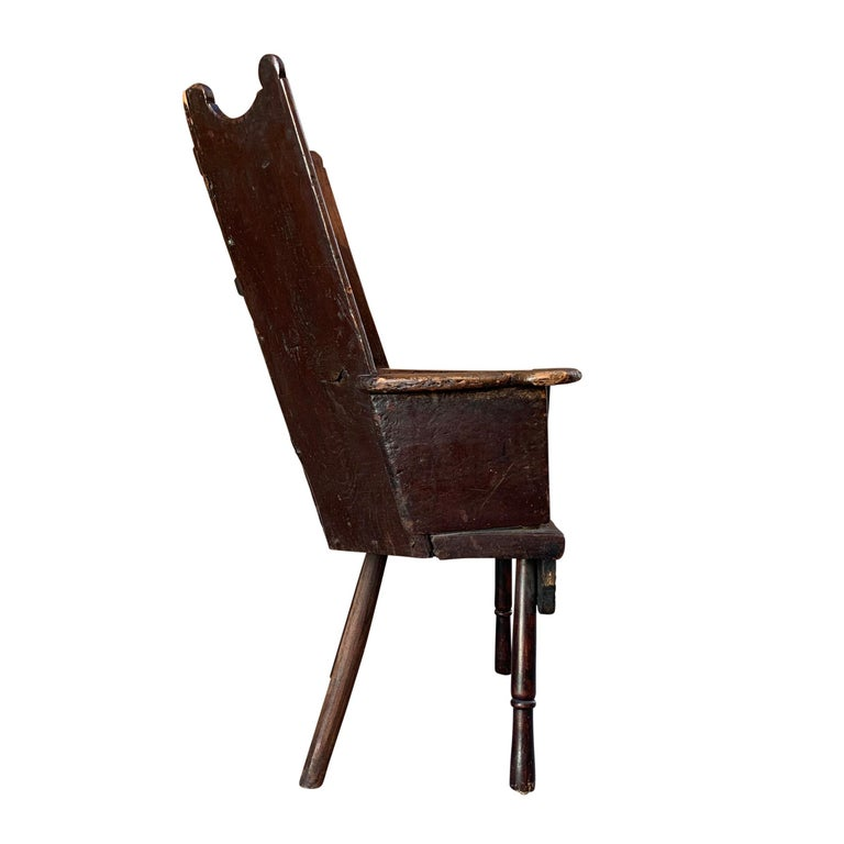 18th Century and Earlier 18th Century English Wingback Chair For Sale