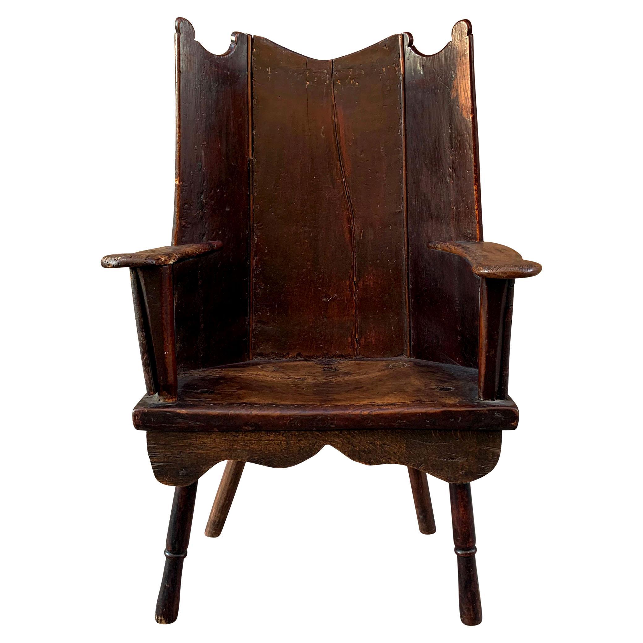 18th Century English Wingback Chair