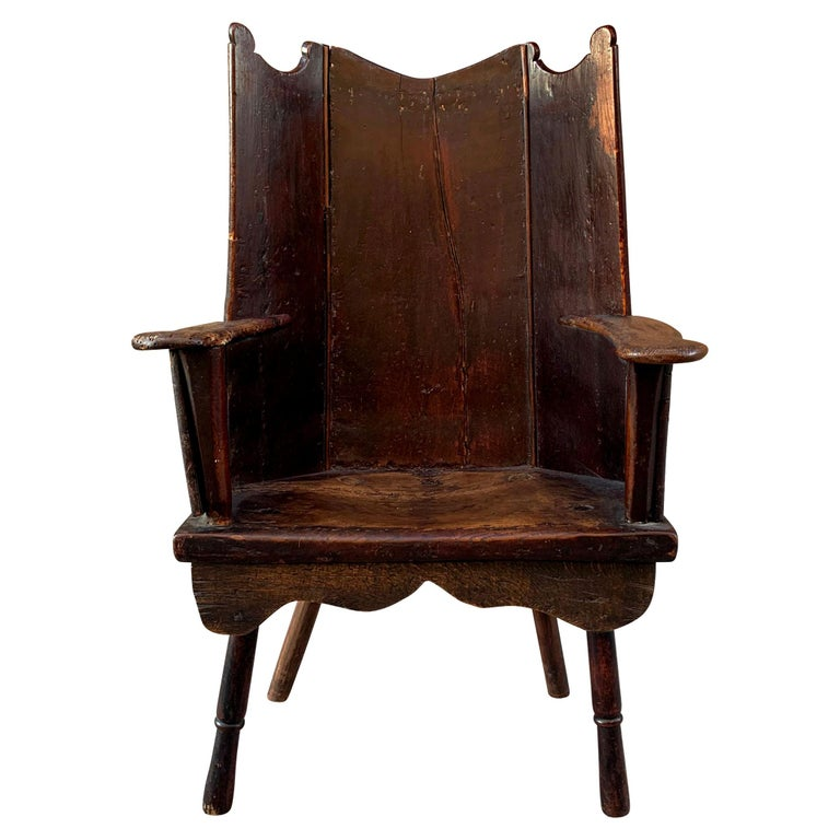 18th Century English Wingback Chair For Sale