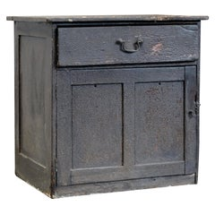 18th Century Estate Made Pine Cupboard in Original Distressed Paint, English