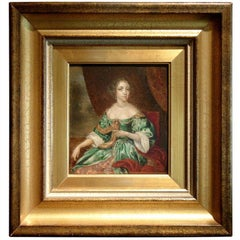 18th Century European Oil on Board Portrait of a Lady